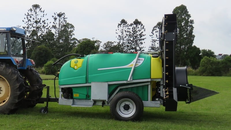 A double sided air blast sprayer specially designed and tested for macadamia, avocado and any other tall plantations. 1000 - 5500L capacity.