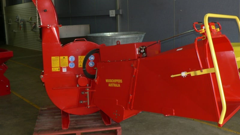 "A 260mm (10"") PTO driven woodchipper designed for farm and forestry use. Hydraulic or manual infeed available."